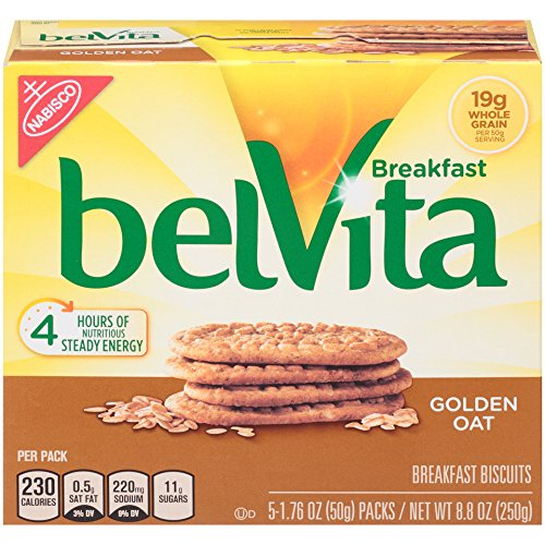 belVita Golden Oat Breakfast Biscuits, 5 Count Box, 8.8 Ounce (Pack of - Breakfast Biscuits