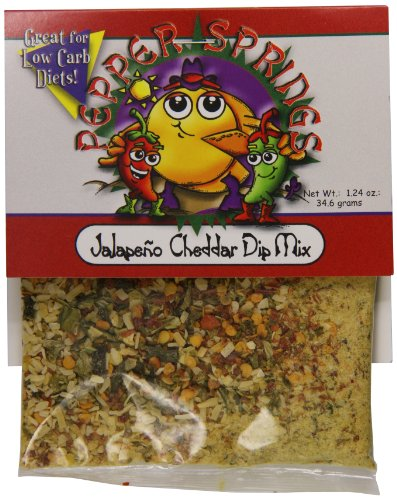 Pepper Dip Mix (Pepper Springs Jalapeno Cheddar Dip Mix, 1.24 Ounce)