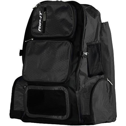 (RIP-IT Pack It Up Backpack - Softball Equipment Bag - Black)