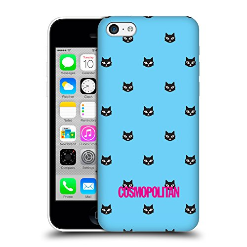 Official Cosmopolitan Sky Blue Lovey The Cat Hard Back Case for Apple iPhone 5c
