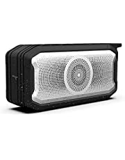 Portable Wireless Speaker V5.0 Bluetooth IPX7 Waterproof Speakers with Stereo Sound, Extra Bass Support TF Card, TWS, FM Radio, AUX for Bathroom, Shower and Outdoor