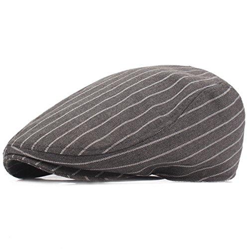 Mode Cabbie Cap - iParaAiluRy Retro coton Newsboy Cap journal Chapeau de garçon Béret pour les adolescents et les hommes