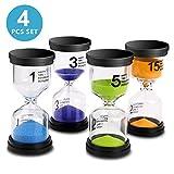kids hour glass timer - Sand Timer VAGREEZ 4 Colors Hourglass Sand Timer Clock Toothbrush Timer 1min / 3mins / 5mins / 15mins for Kids Games Classroom Home Office Kitchen Use (Pack of 4)