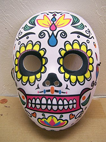 Dia de los Muertos Day of the Dead Sugar Skull Halloween Mask Full Face #1