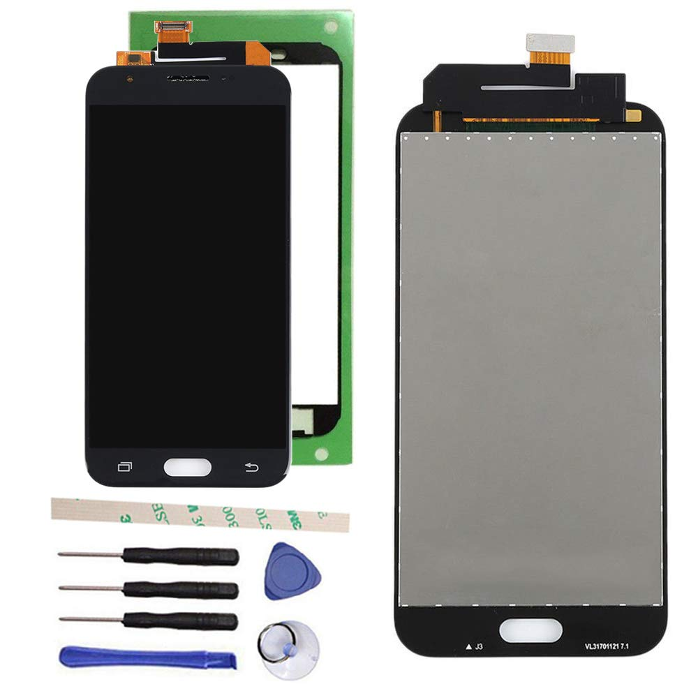 100% Tested LCD Display Touch Screen Digitizer Assembly For Galaxy J3 2017 Prime SM-J327 J327R4 J327T J327T1 J3 Amp Prime 2 SM-J327AZ J3 Emerge J327A J327P J3 V 2017 J327V Eclipse J327VPP (black)