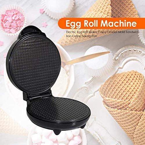 Gpzj Machine à gaufres, Machine à Petit-déjeuner avec Plaque de Cuisson antiadhésive Chauffage Double Face, Machine à cône de crème glacée ustensiles de Cuisson pour la Cuisine