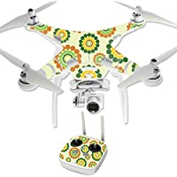 MightySkins Protective Vinyl Skin Decal for DJI Phantom 3 Professional Quadcopter Drone wrap cover sticker skins Flower Power1
