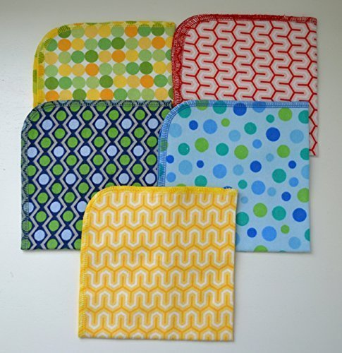 1 Ply Printed Flannel 12x12 inches Circles and Stripes