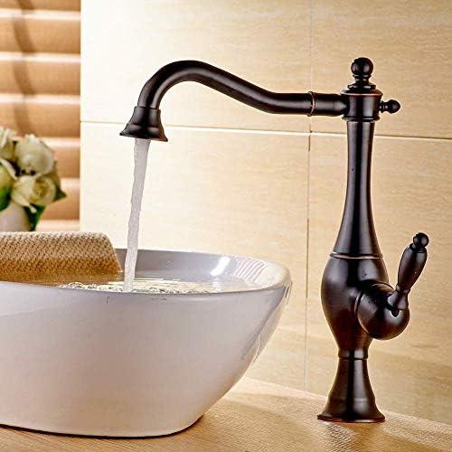 Yadianna 蛇口キッチンタップスイベルスパウトゴールデン流域の蛇口シングルハンドル真鍮コールドとホットミキサータップ浴室キッチンミキサータップTorneiraダCozinha