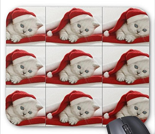 Cute Merry Christmas Cats Halloween Printable mouse pad -