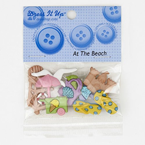 Jesse James Company 0321518 Dress It Up Embellishment Buttons at The Beach ()