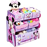Disney Multi-Bin Toy Organizer, Minnie Mouse Perfect Gift to get Your Child Excited About Putting Away their Toys