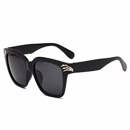 BiuTeFang Gafas de Sol Mujer Hombre Polarizadas Personalidad Cráneo Garra Gafas de Sol Nuevas Tendencia Retro