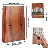 Meideal Kalimba 17 Keys Thumb Piano Finger Piano Mbira Likembe Sanza Professional Series Instrument Gift Solid Acacia Wood with Protable Portection Bag
