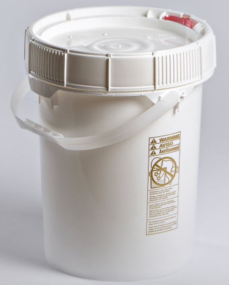 Life Latch 5 Gallon Screw Top Food Grade Bucket with White Lid - 3 Pack Case