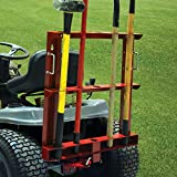 MoJack Multi-Use Hitch + Tool Carrier Combo - Fits Most Residential & Zero Turn Riding Lawn Mowers or ATVs, Provides Easy Tool Transportation, 60 lb. Weight Capacity
