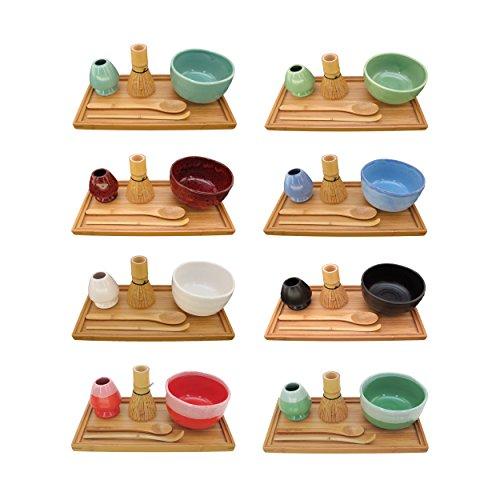 Cheapest Price! BambooMN Brand - Matcha Bowl Set (Includes Bowl, Rest,Tea Whisk, Chasaku, Tea Spoon ...