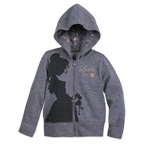 Pullover Hooded Bella (Disney Belle Zip-Up Hooded Sweatshirt for Girls - Beauty and The Beast Size 2 Multi456249101723)