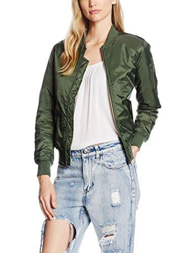 Urban Classics Ladies Basic Bomber Jacket, Chaqueta para Mujer Grün (Olive 176)