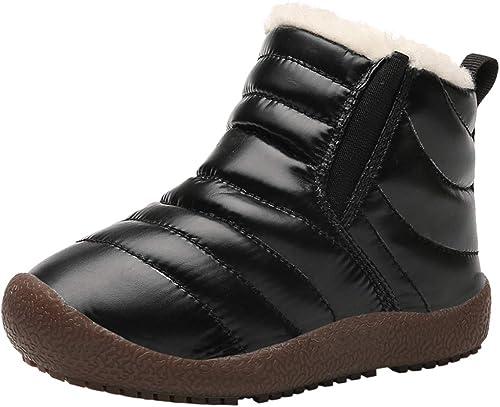 Kids Comfort Waterproof Leather Boots Boy Girl Slip On Boots