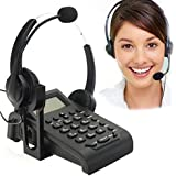 BizoeRade Call Centers Corded Phone with Noise Cancelling Headphones with Binaural Headset Caller ID Display