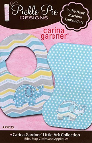 Carina Gardner Little Ark Collection In the Hoop Machine Embroidery CD by Pickle Pie Designs (Applique Embroidery Collection 5x7 Hoop)