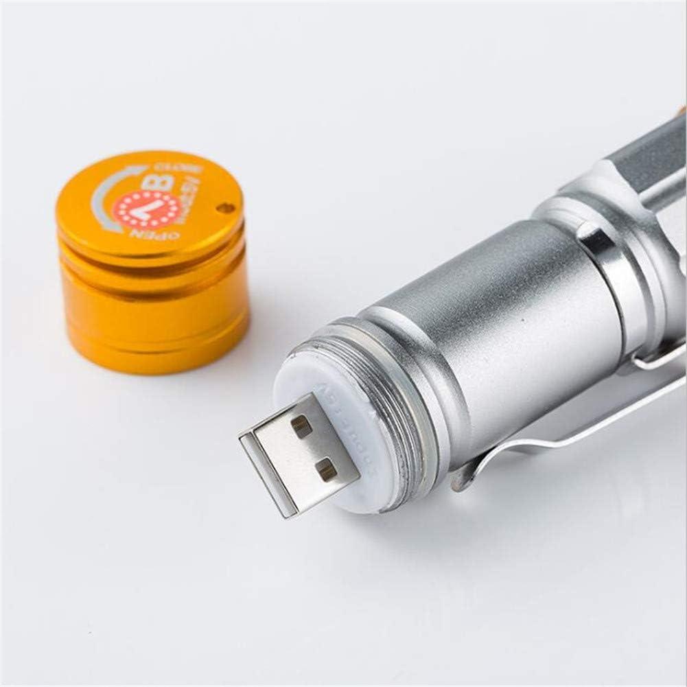 ACHICOO La Mini Prise USB de Bicyclette de Lampe-Torche de Puissance Forte extérieure Recharge la Lampe-Torche de LED black