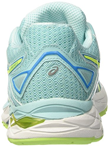 8 Gel Safety Phoenix Diva Aqua Blue Running Women's Asics Splash Yellow Competition Shoes Multicolour wqpttS