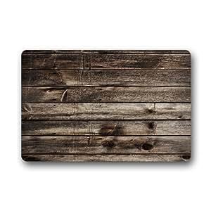 """Rustic Old Barn Wood Custom Doormat Indoor Outdoor (23.6""""x15.7"""")"""