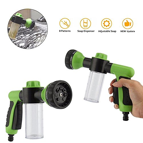 FOONEE High Pressure Power Washer/Hose Soap Sprayer/Car Wash Foam Gun 8 Way Spray Pattern for Car Wash/Watering Flowers Green/Yellow by FOONEE