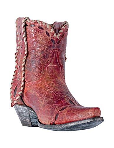 Dan Post Women's Livie Short Boot Snip Toe Red 8 M
