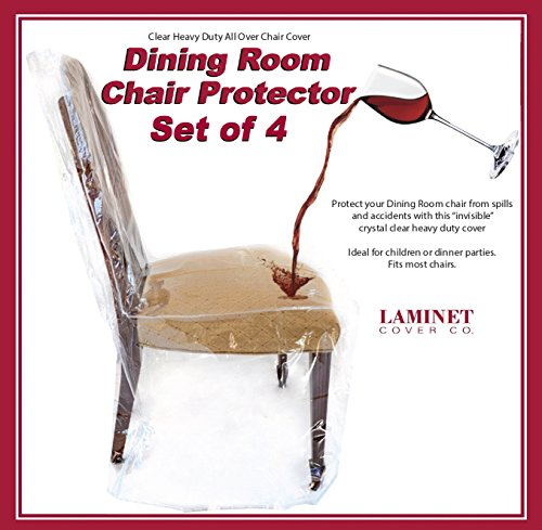 Amazon.com - LAMINET - All-Over Dining Room Chair Cover - Set of 4 ...