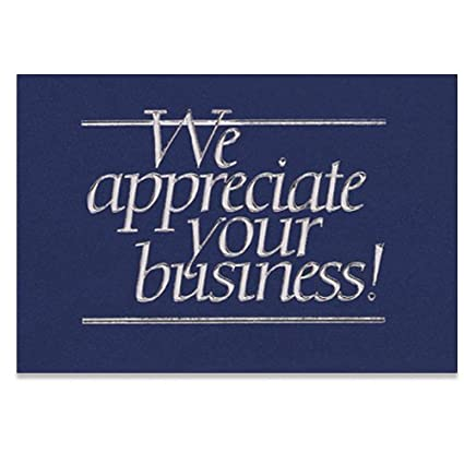 Amazon business appreciation thank you cards greeting cards business appreciation thank you cards reheart Choice Image