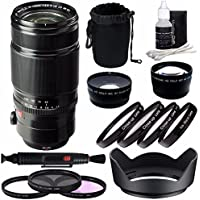 Fujifilm XF 50-140mm f/2.8 R LM OIS WR Lens + 72mm 3 Piece Filter Set (UV, CPL, FL) + 72mm +1 +2 +4 +10 Close-Up Macro Filter Set + 72mm Wide Angle Lens + 72mm 2x Telephoto Lens with pouch Bundle 3