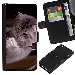 Stuss Case / Funda Carcasa PU de Cuero - Ragdoll Maine Coon Kitten Cat Feline - Apple Iphone 6