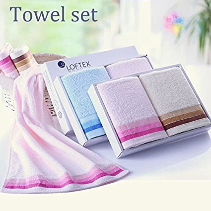 Paleo 2pcs hilo de algodón peinado 34x72cm puro blando toallas faciales spa del hotel casa toalla