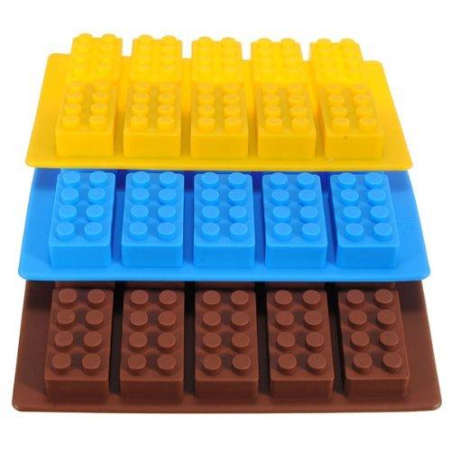 Lego Brick Pattern Silicone Ice Cube Jello Tray Maker BSKU040670394-121