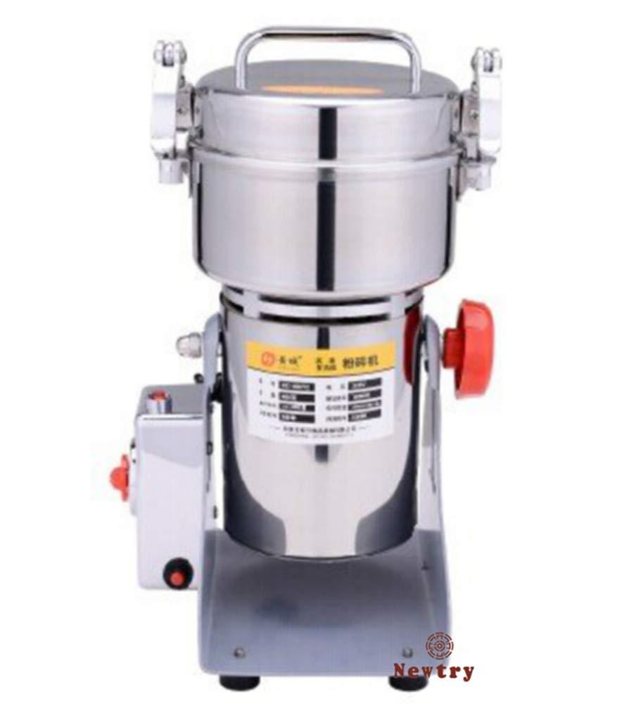 400g Swing Type Stainless Steel High-Speed Electric Grains Food Mill Grinding Machine Herb Grinder Food Pulverizer Superfine Powder Machine (110V) Newtry