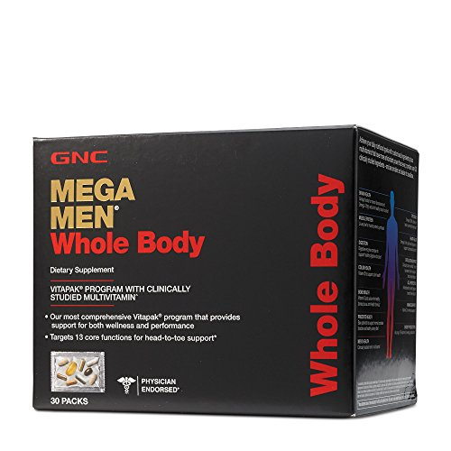 GNC Mega Men Whole Body Daily Multivitamin Vitapak, Targets 13 Core Functions - 30 (Mega Body)