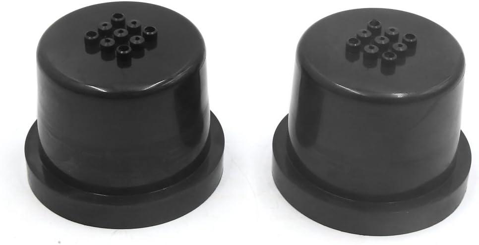 uxcell 2pcs 75mm Inner Dia Rubber Car LED Headlight Housing Dust Cap Seal Cover Black