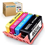 MyToner Remanufactured Ink Cartridge Replacement for HP 902 XL 902XL(1 Black 1 Cyan 1 Magenta 1 Yellow, 4-Pack) for HP OfficeJet Pro 6968 6978 6958 6962 6960 6970 6979 6950 6954 6975 Printer
