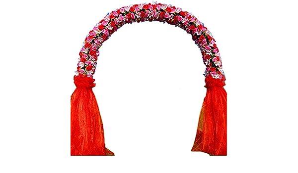 SUNNAIYUAN Boda semicircular Arco Flores Artificiales y Metal Arco Soportes Pergola decoración del jardín de fácil instalación Decoración del Partido (Color : A): Amazon.es: Joyería