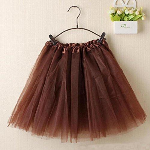 Keerads Damen Tutu Rock Tullrock Kurz Rockabilly Kleid Petticoat
