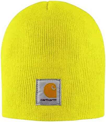 Carhartt Acrylic Knit Beanie - Yellow CHA205BLM Mens Winter Beanie Wool Hat e17007fa54e2