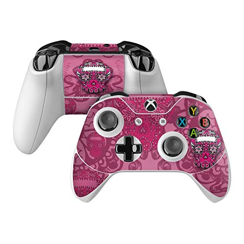 Pink Lace Skin Decal Compatible with Microsoft Xbox One and One S Controller - Full Cover Wrap for Extra Grip and Protection from DecalGirl