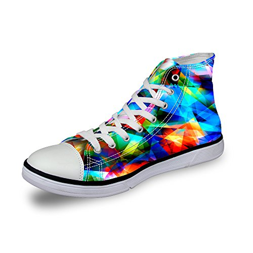 FOR U DESIGNS Stylish High-Top Canvas Shoes Footwear Lace Up Fashion Sneaker For Women Multi 1 ux3MaH