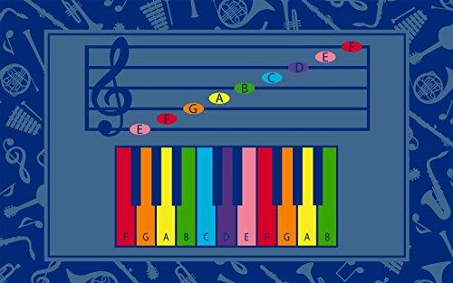 Childcraft Music Notes Carpet, 10 Feet 6 inches x 13 Feet 2 inches, (1'10' X 2'10' Rectangular Rug)