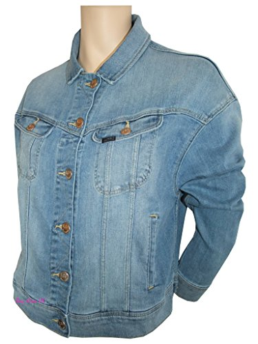 to Blue coat material women jacket ladies L flap wear blue mix XS casual denim pockets 6Hwnq7Z