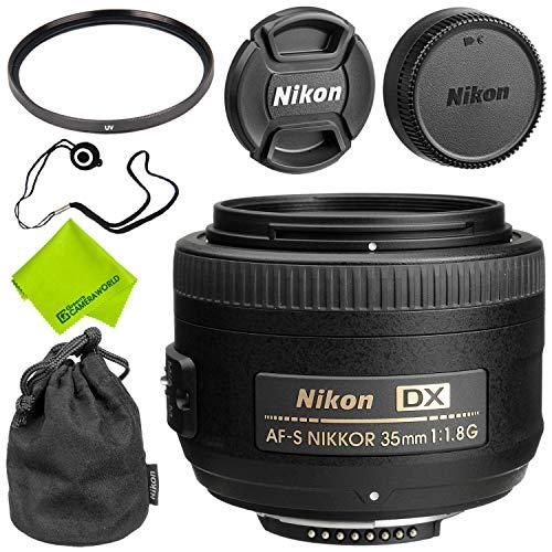Nikon AF-S DX NIKKOR 35mm f/1.8G Lens Base Bundle (Nikon F Mount Lenses)