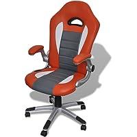 vidaXL Fauteuil en Similicuir Moderne de Bureau Design Blanc